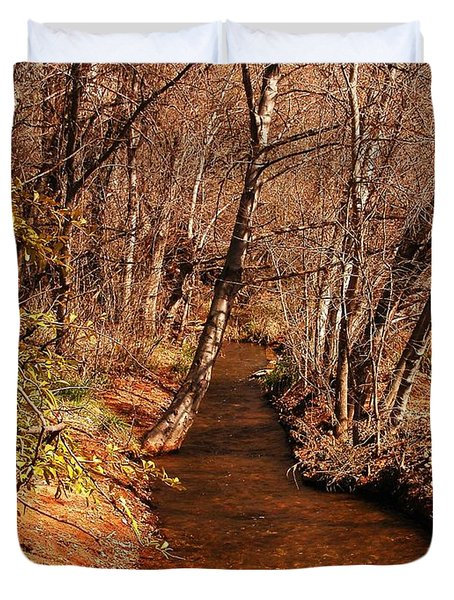 Spring at Red Rock Crossing Duvet Cover by Marilyn Smith