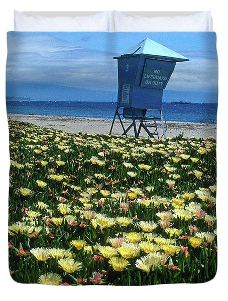 Spring Break Santa Barbara Duvet Cover by Kathy Yates