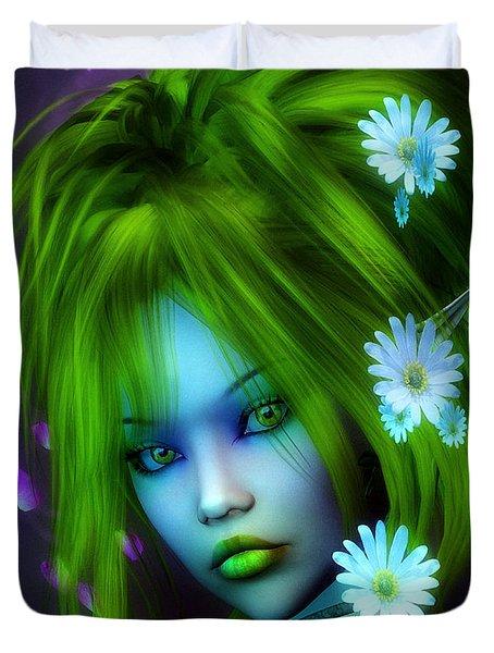 Spring Elf Duvet Cover by Jutta Maria Pusl