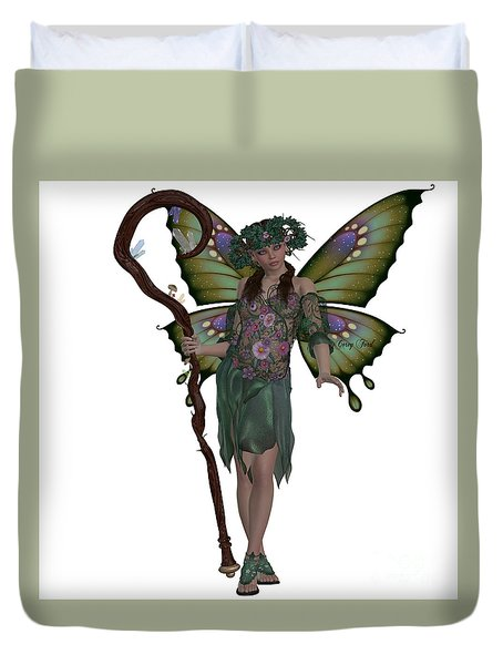 Spring Fairy Duvet Cover by Corey Ford