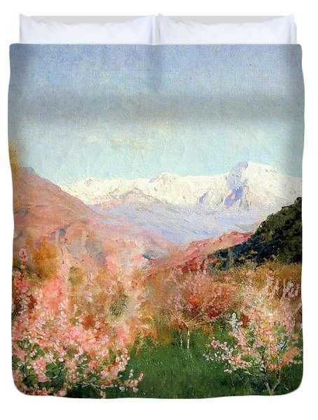Spring In Italy Duvet Cover by Isaak Ilyich Levitan