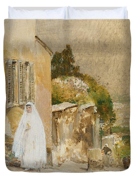 Spring Morning At Montmartre Duvet Cover by Childe Hassam