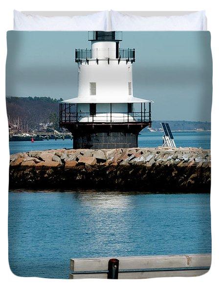 Spring Point Ledge Lighthouse Duvet Cover by Greg Fortier