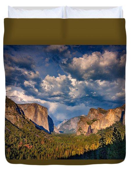 Spring Storm Over Yosemite Duvet Cover by Rick Berk