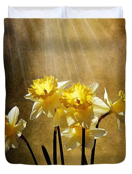 Spring Sun Duvet Cover by Lois Bryan