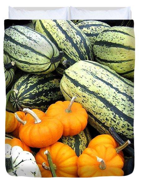 Squash Harvest Duvet Cover by Will Borden