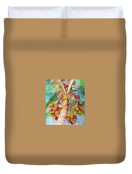 Squire's Coconuts Duvet Cover by AnnaJo Vahle