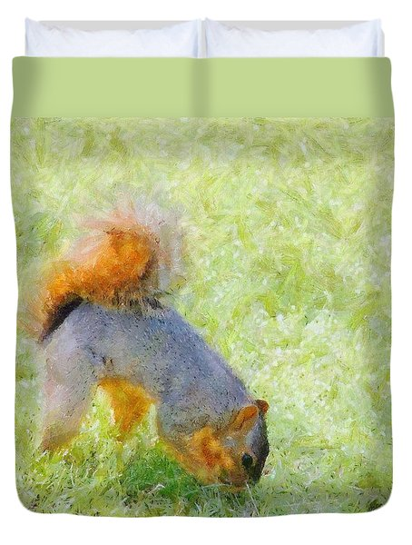Squirrelly Duvet Cover by Jeff Kolker