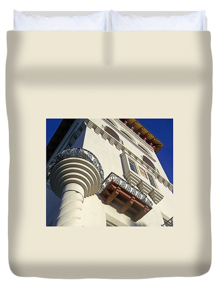 St. Augustine Spanish Colonial Ornate Duvet Cover by Patricia Taylor