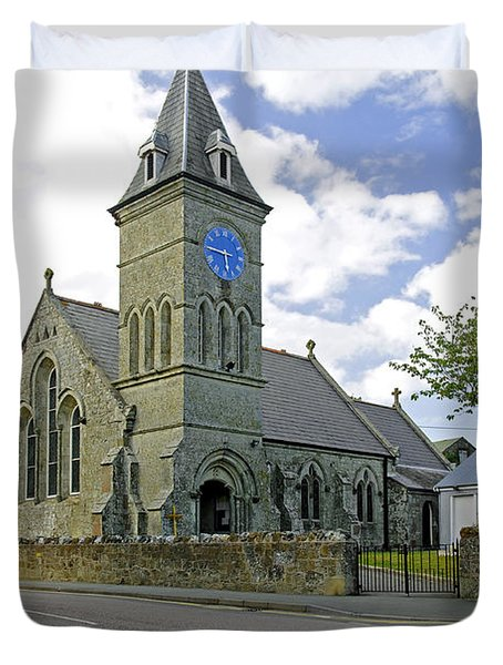 St John The Evangelist Church At Wroxall Duvet Cover by Rod Johnson