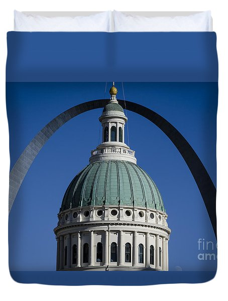 St. Louis Arch Duvet Cover by Andrea Silies
