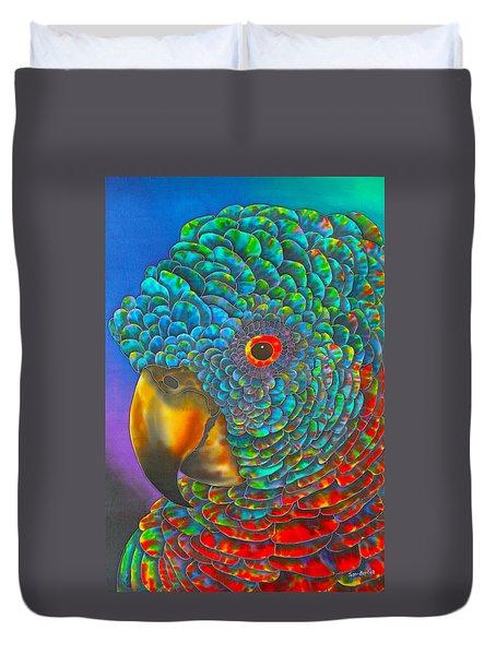 St. Lucian Parrot Duvet Cover by Daniel Jean-Baptiste