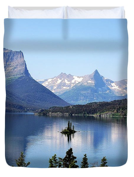 St Mary Lake - Glacier National Park MT Duvet Cover by Christine Till