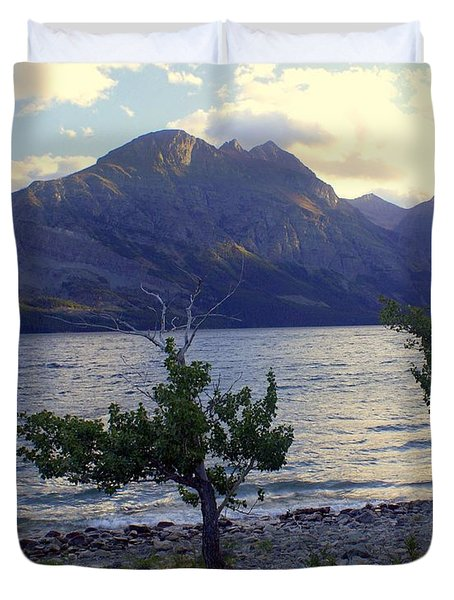 St. Mary Lake Duvet Cover by Marty Koch