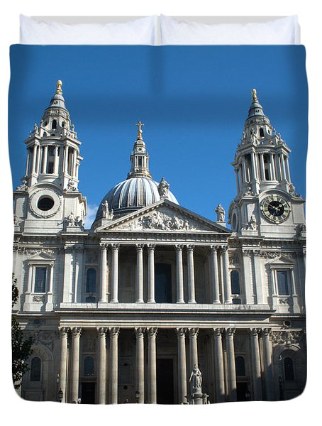 St Pauls Cathedral Duvet Cover by Chris Day