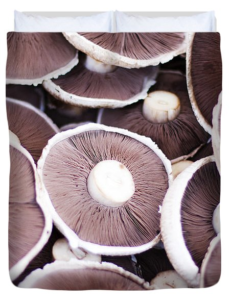 Stacked Mushrooms Duvet Cover by Jorgo Photography - Wall Art Gallery