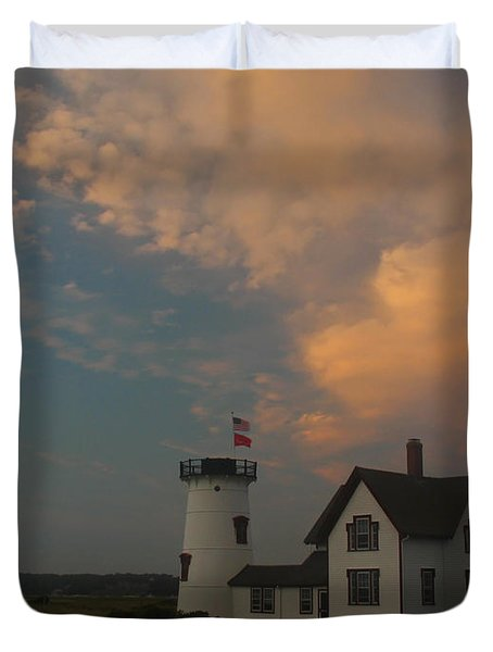 Stage Harbor Lighthouse Duvet Cover by Juergen Roth