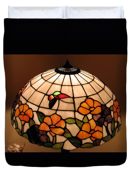 Stained-glass Lampshade Duvet Cover by Suhas Tavkar