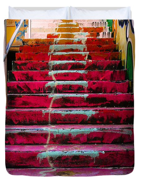 Stairs Duvet Cover by Angela Wright