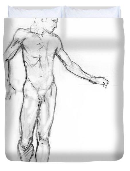 Standing Male Nude Duvet Cover by Adam Long