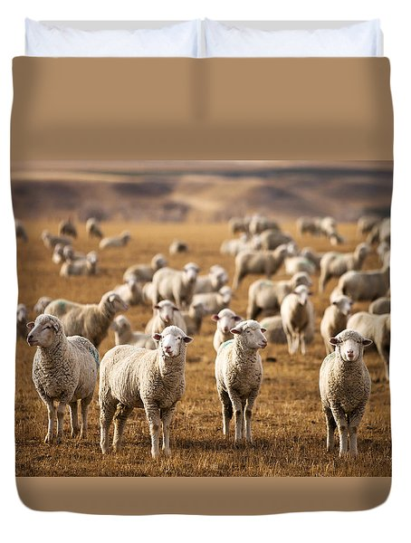 Standing Out In The Herd Duvet Cover by Todd Klassy