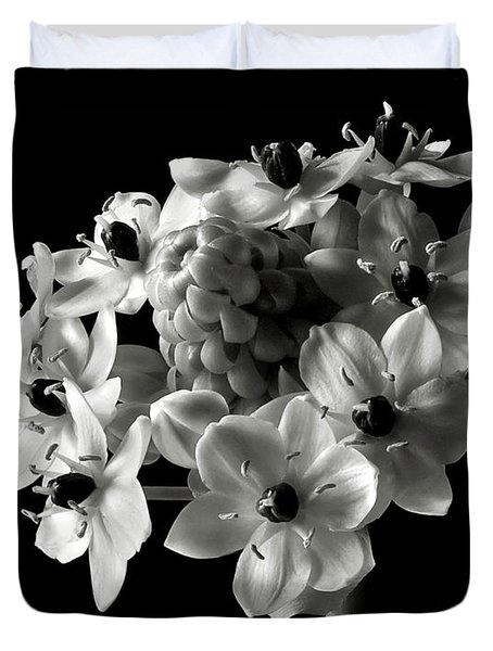 Star of Bethlehem in Black and White Duvet Cover by Endre Balogh