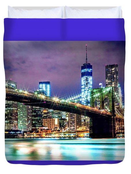 Star Spangled Skyline Duvet Cover by Az Jackson