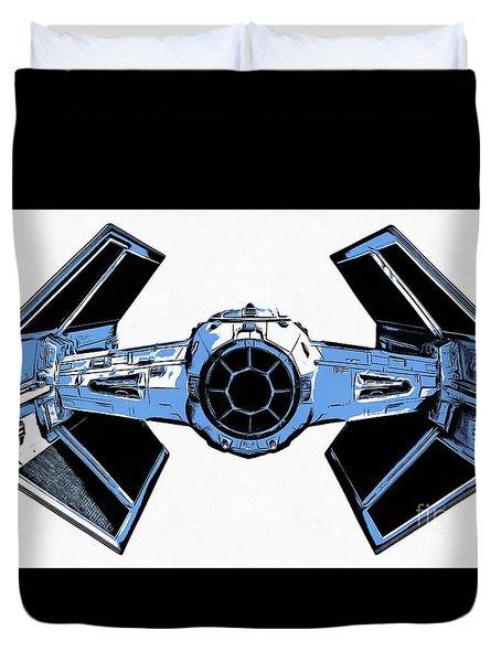 Star Wars Tie Fighter Advanced X1 Duvet Cover by Edward Fielding