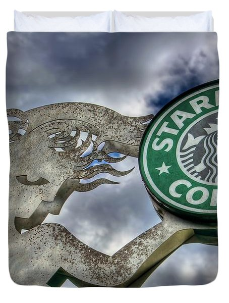 Starbucks Coffee Duvet Cover by Spencer McDonald