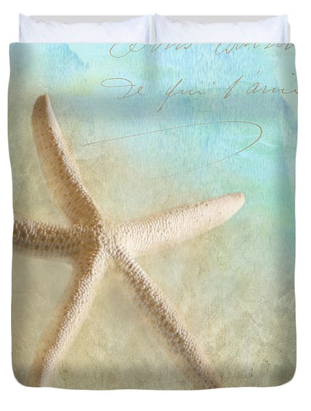 Starfish Duvet Cover by Betty LaRue