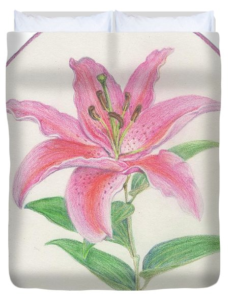 Stargazer Lily Duvet Cover by Joanna Aud