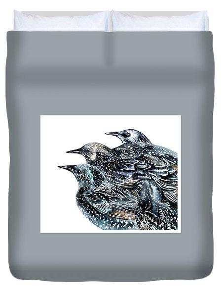 Starlings Duvet Cover by Marie Burke
