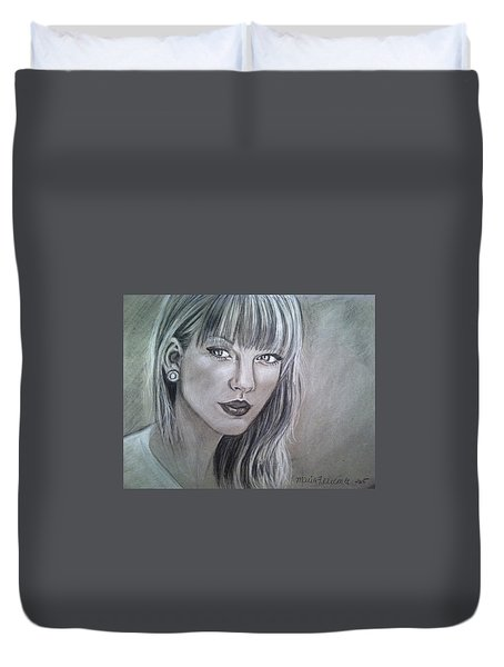 Stay Beautiful Duvet Cover by Maria Ferrante