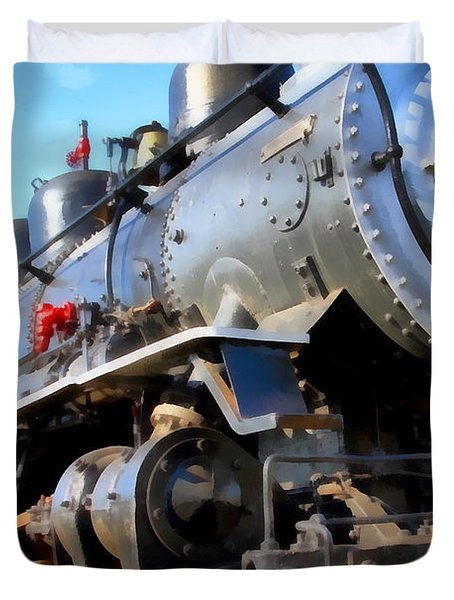 Steam Locomotive Engine 1215 . 7d12980 Duvet Cover by Wingsdomain Art and Photography