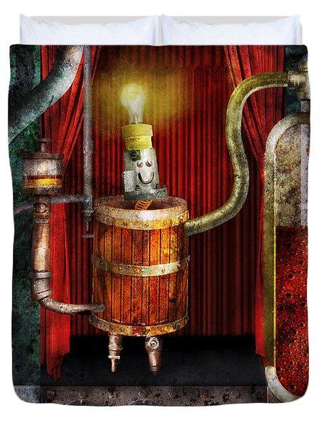 Steampunk - Coffee Break Duvet Cover by Mike Savad