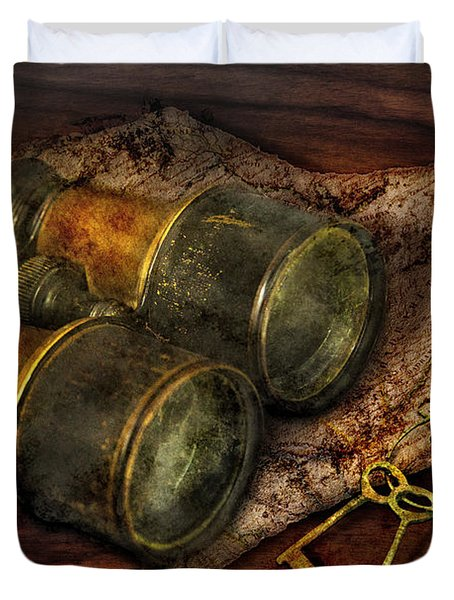 Steampunk - Extendo Optics  Duvet Cover by Mike Savad