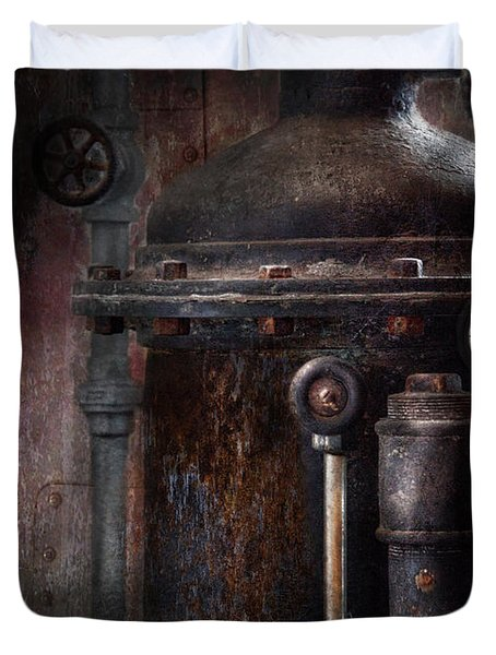 Steampunk - Handling Pressure  Duvet Cover by Mike Savad