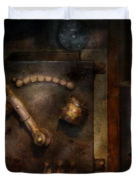 Steampunk - The Control Room  Duvet Cover by Mike Savad