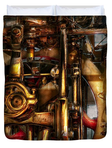Steampunk - Mechanica Duvet Cover by Mike Savad