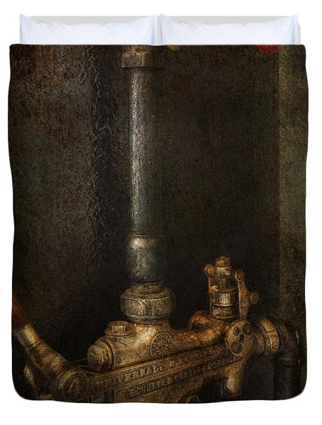 Steampunk - Plumbing - Number 4 - Universal Duvet Cover by Mike Savad