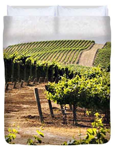 Step Into My Vineyard Duvet Cover by Marilyn Hunt