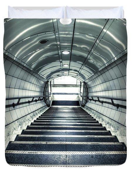 Steppings Tones Duvet Cover by Evelina Kremsdorf