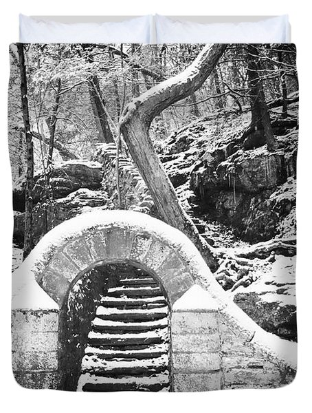 Steps Along the Wissahickon Duvet Cover by Bill Cannon