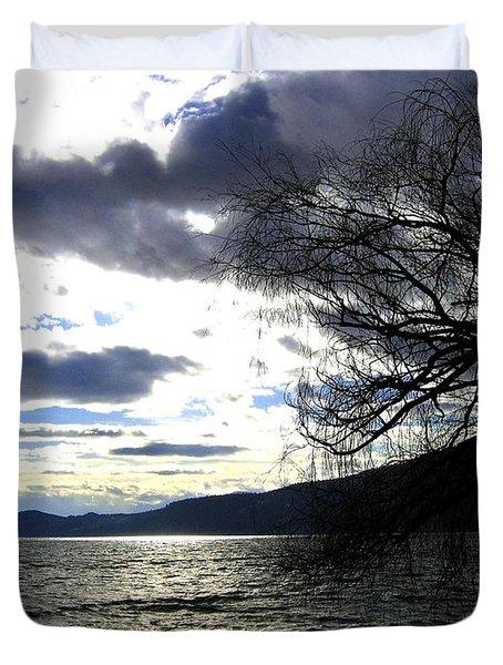 Sterling Silver Sunset Duvet Cover by Will Borden