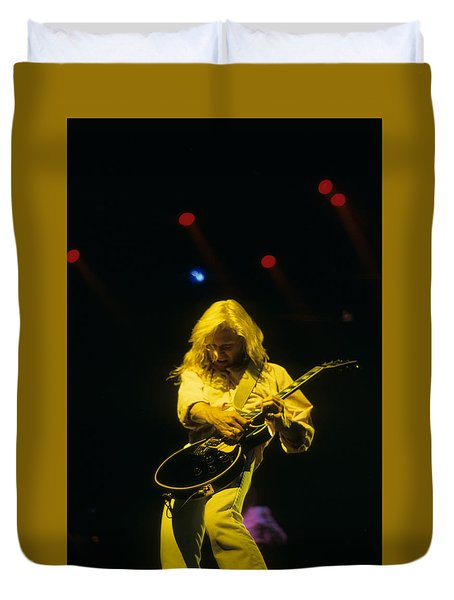 Steve Clark Duvet Cover by Rich Fuscia