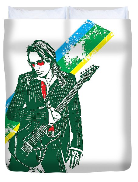 Steve Vai No.02 Duvet Cover by Unknow