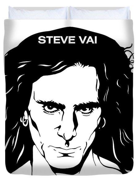 Steve Vai No.03 Duvet Cover by Caio Caldas