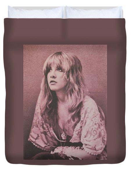 Stevie Nicks  Duvet Cover by Donna Wilson