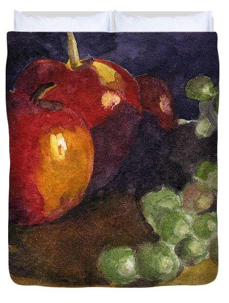 Still Apples Duvet Cover by Lynne Reichhart