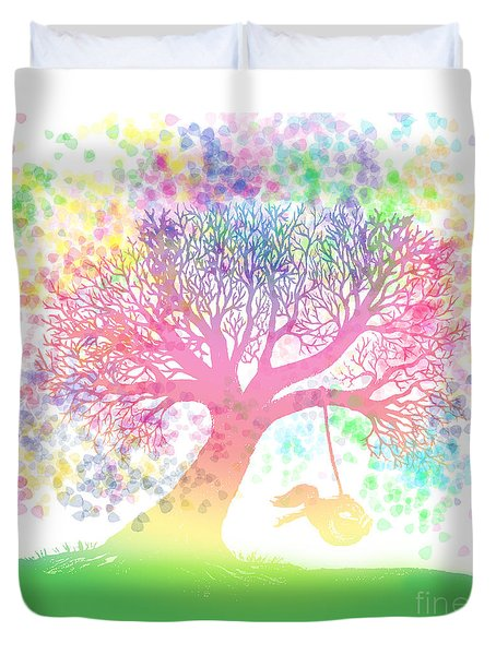 Still More Rainbow Tree Dreams 2 Duvet Cover by Nick Gustafson